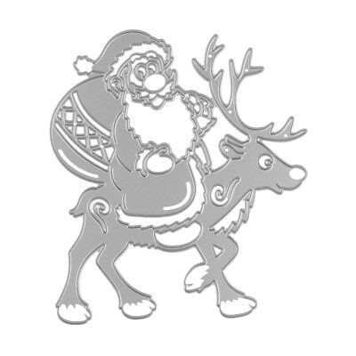 Embossing Stencil Metal Cutting Dies Scrapbooking Decor Santa Claus Reindeer