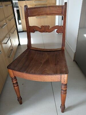 Four antique mahogony Victorian Kitchen dining chairs