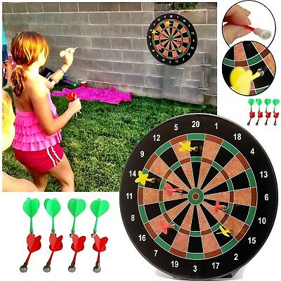 """16"""" MAGNETIC DART BOARD DARTBOARD 6 DARTS PARTY GAME TOY PLAYSET For KIDS"""