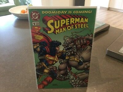 1995 Dc Superman Man Of Steel #1 Kenner Limited Edition Doomsday Is Coming Comic