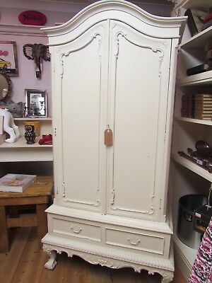 French Style Armoire or Entertainment Cupboard Linen Cupboard