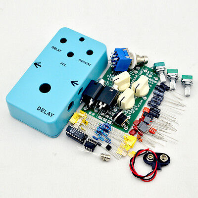 Make your DIY Guitar Effect Pedal Delay-1 Guitar Effects Electric Light Blue