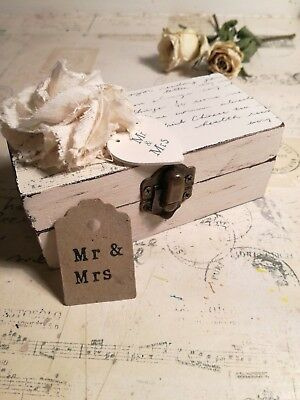 shabby chic wedding ring bearer box