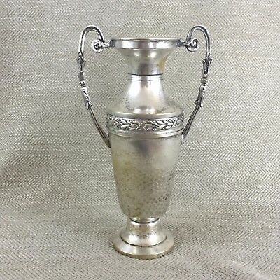 Antique French Silver Plated Twin Handled Vase Circa 1900s