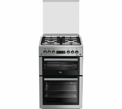 BEKO Pro XDVG675NTS 60 cm Gas Cooker - Silver - Currys