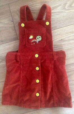 Little Bird By Jools Oliver Baby Girl 18-24 Months Dungaree Dress Rusty Brown