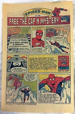 1987 - THE AMAZING SPIDER-MAN (Free the CAP'N Mystery) Captain Crunch Ad