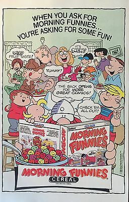 1988 - MORNING FUNNIES CEREAL - Promo Ad