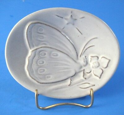 1974 Frankoma Christmas Card Plate Butterfly and Star the Franks