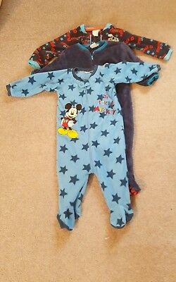 Fleece all in one/ sleepsuits 12-18 months boys including Disney and Thomas