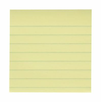 Post-it Notes 3 x 3-Inches Canary Yellow Lined 6-Pads/Pack New