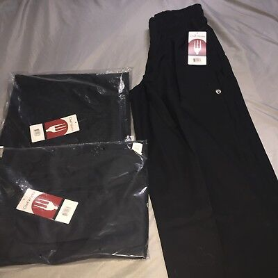 New Chef Works Classic Baggy Fit Chef Pants Size Large - Brand New Tags Still On
