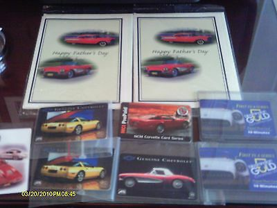 Nine New Corvette Collectible Prepaid Phone cards