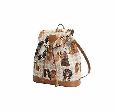 Signare Womens Tapestry Small Rucksack Backpack in Cavalier King Charles ... New