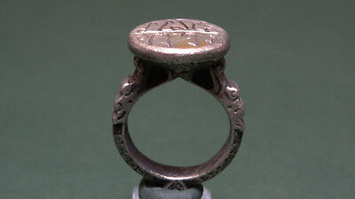 Ancient Silver Ring Rich Designs Islamic 800-1200 Ad