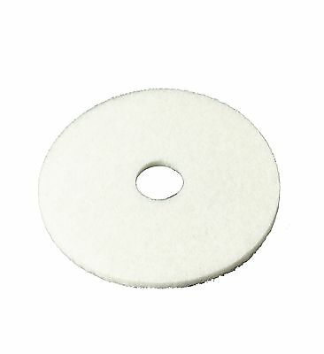 "3M White Super Polish Pad 4100 17"" Floor Pad Machine Use (Case of 5) 17 i... New"