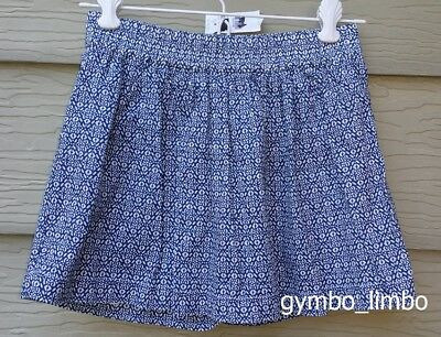 Crewcuts NWT Girls 10 Blue Floral Lightweight SKORT Lined New