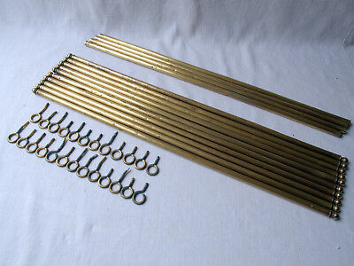 Lot of Antique French Brass Stair Rods Carpet Rods Victorian
