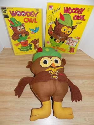 Vintage Woodsy Owl Doll Comic and Coloring Book Lot