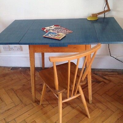 Vintage Formica 50s Kitchen Table/Desk  Extending Seats 4  Inc Ercol Chair.