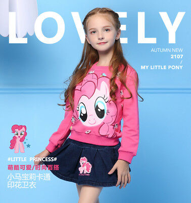Genuine My Little Pony Kids Girl Sweater Jumper Top Shirt Outfit Winter Clothes