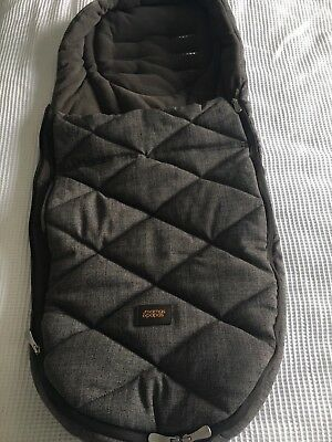 Mamas And Papas Cold Weather Footmuff Chestnut Tweed