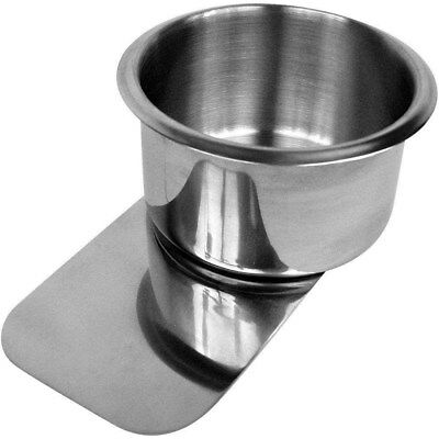 Jumbo Stainless Steel Slide Under Cup Holder Fits Drinks 3.25 in or Less