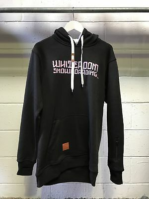 NEW Snow gear Whiteroom Snow Tall Hoodie Black with Pink Print