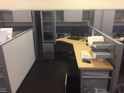 Office Furniture Cubicles Total 6 Cubicles For Sale HermanMiller