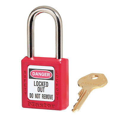 MasterLock Safety Lockout Padlock - Red 38mm