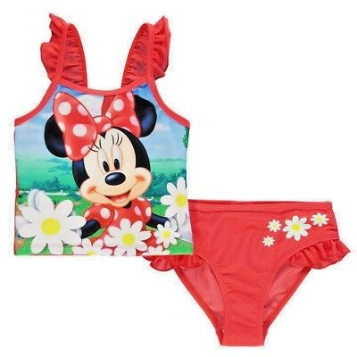 Girls Minnie Mouse Childrens Swimming costume Swimsuit Tankini Baby Toddler