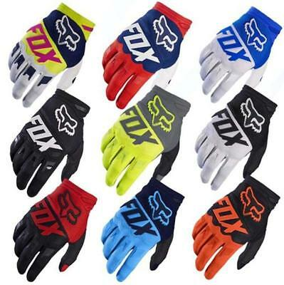 MENS FOX Full Finger Cycling Bike Gloves Motorcycle Motorcross Offroad Gloves UK