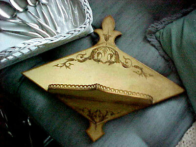 VINTAGE Hollywood Glam METAL TOLEWARE WALL SHELF MADE IN FRANCE