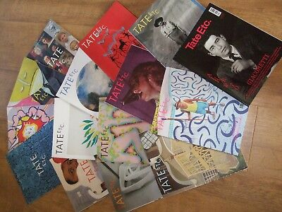 Art. Magazines/Publications.Tate. 15 from Autumn 2012 to Summer 2017.