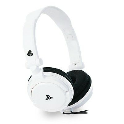 4Gamers Stereo Gaming Headset Dual Format (White) - PS4/Vita Brand New