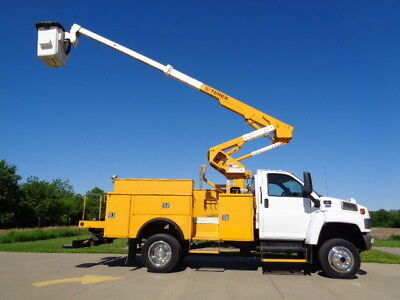 41' Chevrolet 4X4 Bucket Truck Boom Basket Lift Aerial Utility Service No CDL