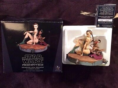 SLAVE LEIA Figure STATUE Animated 2010 Gentle Giant Banned By Disney