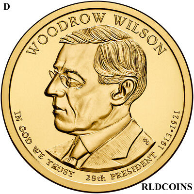 2013 D President Woodrow Wilson Uncirculated Presidential Dollar  #28P