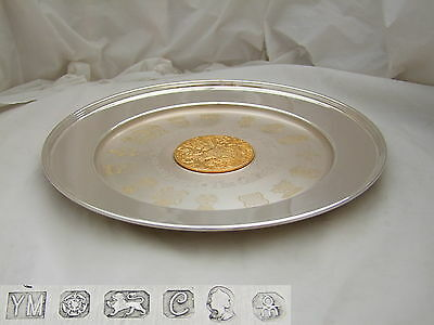 Rare Qe Ii Hm Sterling Silver College Of Arms Plate