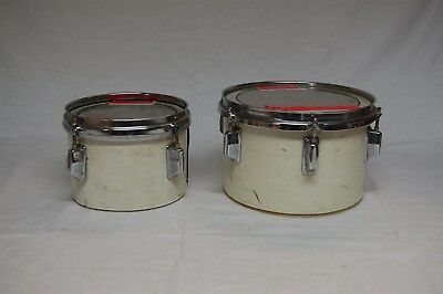 """Pair of Pearl Maxwin 8"""" and 10"""" concert toms"""
