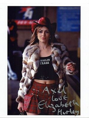 Elizabeth Hurley British Actress Model Hand signed Photograph 10 x 8