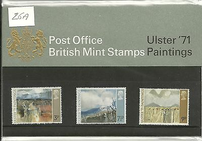 GREAT BRITAIN ULSTER 1971 PAINTINGS POST OFFICE PACK 1971 SG PP26a
