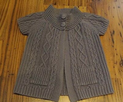 Willow Blossom Gray Knit Cardigan Sweater 2T