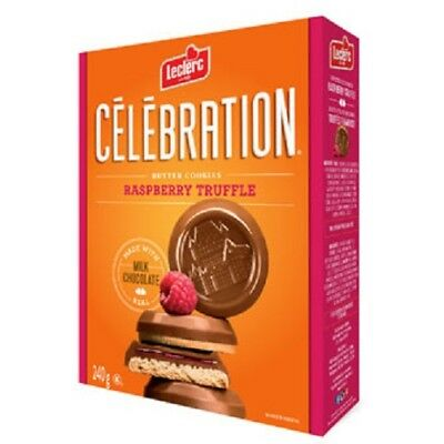 Leclerc Celebration 1905 Milk Chocolate Raspberry Truffle Butter Cookies