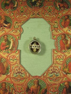 Antique Case With The Relics Of St.francis & St.clare Of Assisi