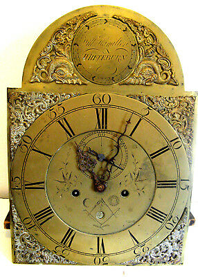 Masonic Brass Eight Day Dial & Movement by William Hamilton of Whiteburn