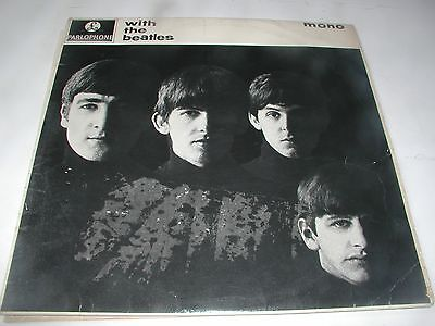 2 rare 60s lps,the beatles & hollies,both g&l flip back covers,with kt stamps