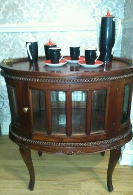 Mahogany Glass Drinks/display Cabinet Great Condition