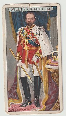 Vintage Will's Cigarette Card H M King George V #37 The Coronation Card F24