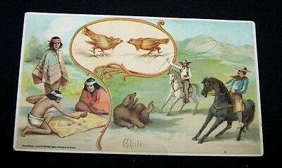 1893 Trade Card-#26 Arbuckle Coffee-Chili-Sports Pastime Series-Lasso Throwers